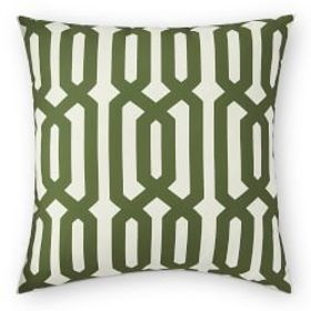 Printed Graphic Links Outdoor Pillow, Palm