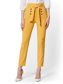 Button-Front Slim Pant - 7th Avenue - New York & C