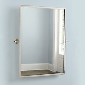 Paulette Bath Pivot Mirror - Brass