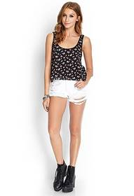 Forever21 Floral Print Boxy Top
