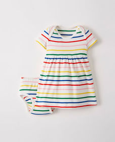 Hanna Andersson Bright Baby Basics Dress In Organi