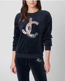 Juicy Couture Luxe Sequin JC Velour Pullover