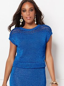 Gina Crochet Sweater Top - Eva Mendes Collection -