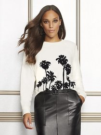 Palm-Tree Graphic Sweatshirt - Eva Mendes Collecti