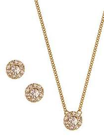 Givenchy Pendant Necklace & Earrings Set GOLD
