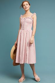 Anthropologie Marmont Corseted Dress