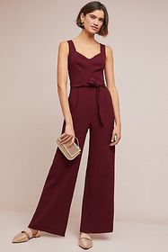 Anthropologie The Essential Belted Jumpsuit