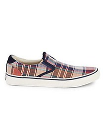Polo Ralph Lauren Madras Plaid Slip On Sneakers MA