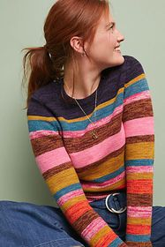 Anthropologie Leive Striped Sweater