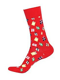 Happy Socks Gift Box Crew Socks BRIGHT RED