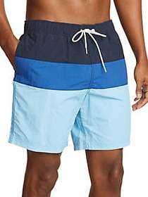 Nautica Colorblock Drawstring Swim Shorts ALASKAN