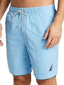 Nautica Logo Swim Trunks ALASKAN BLUE
