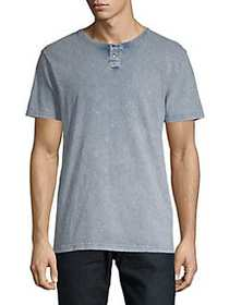 Lucky Brand Sugar Magic Washed Henley Tee NAVY