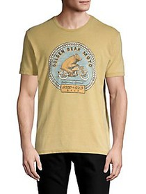 Lucky Brand Golden Bear Moto Graphic T-Shirt DUSTY