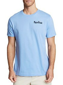 Nautica Circle Logo Short-Sleeve Cotton Tee CORNFL