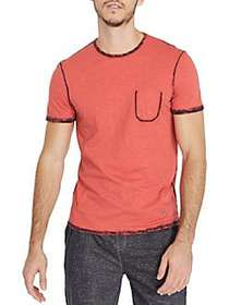 BUFFALO David Bitton Contrast Seam Crewneck Tee CR