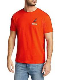 Nautica Lonely Lei Regular-Fit Cotton Tee FIREY RE