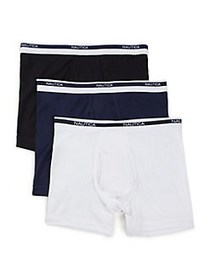 Nautica 3-Pack Classic Boxer Briefs BLACK MULTI