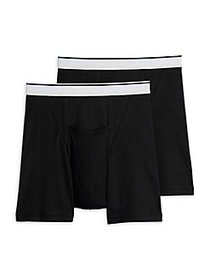 Jockey 2-Pack Big Man Pouch Boxer Briefs BLACK