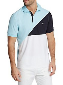 Nautica Navtech Colorblock Classic-Fit Polo HARBOR