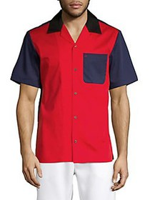 Calvin Klein Colorblock Cotton-Down Shirt HIGH RIS
