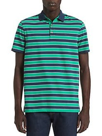 Calvin Klein Liquid Touch Stripe Polo JELLY BEAN