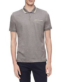 Calvin Klein Regular-Fit Tipped Cotton Polo GREY