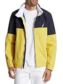 Nautica Lightweight Colorblock Packable Bomber Jac