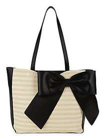 Karl Lagerfeld Paris Oversize Bow Tote OFF WHITE B