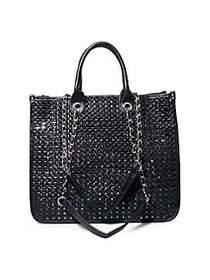 Steve Madden BStacy Woven Tote BLACK