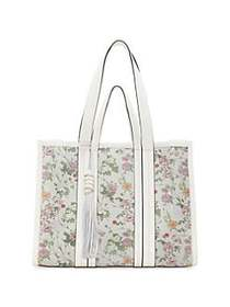 Vince Camuto Indra Floral Leather Tote MULTI