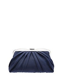 Nina Haidyn Pleated Frame Convertible Clutch NAVY