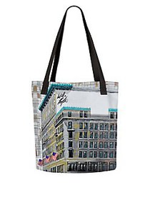VIDA Lord & Taylor 5th Ave Canvas Tote WHITE