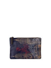 VIDA Lord & Taylor Heritage Canvas Pouch NAVY