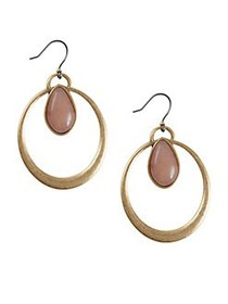 Lucky Brand Floral Tribes Goldtone and Pink Stone