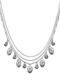 Lucky Brand Floral Tribes Silvertone Layered Neckl