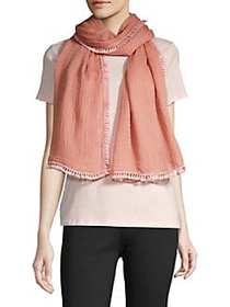 Vince Camuto Tassel-Trimmed Scarf CORAL