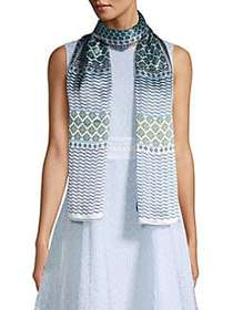 Vince Camuto Printed Silk Scarf BLUE