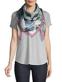 Vince Camuto Watercolor Floral Square Silk Scarf B
