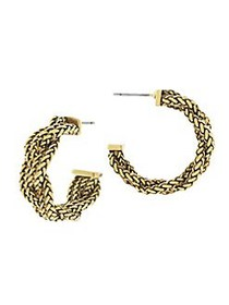 Etienne Aigner Golden Wheat Chain Small Braided Ho