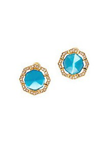 Vince Camuto Goldtone and Crystal Stud Earrings GO