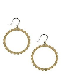 Lucky Brand Goldtone Scalloped Edge Front Drop Ear