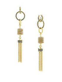Etienne Aigner Horn & Bone Drop Earrings GOLD
