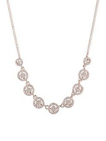 Givenchy Crystal Embellished Halo Necklace ROSE GO
