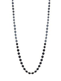 Givenchy Silvertone and Crystal Strand Necklace ME