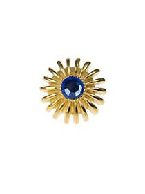 Kenneth Jay Lane Faceted Stone Flower Ring BLUE