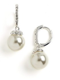 Givenchy Pearl Drop Earrings PEARL SILVER