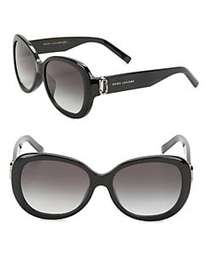 Marc Jacobs 56MM Oval Sunglasses BLACK