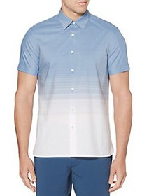 Perry Ellis Regular-Fit Short-Sleeve Ombre Stripe
