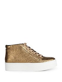 Kenneth Cole New York Janette Leather Sneakers GOL